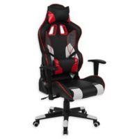 Flash Furniture Cumberland Swivel High-Back Chair in Black/White