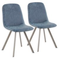 Lumisource® Faux Leather Upholstered Sedona Dining Chairs in Blue (Set of 2)