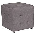 Flash Furniture Avendale Tufted Pouf Ottoman in Light Grey