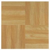 Achim Nexus 20-Pack 12-Inch 3 Finger Parquet Floor Tiles in Light Oak