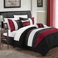 Chic Home Abilene 10-Piece King Comforter Set in Black