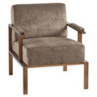INK+IVY Garett Lounge Chair in Brown