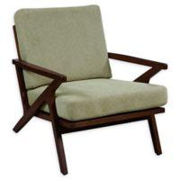 Pulaski Upholstered Wood-Frame Arm Chair in Sage Green