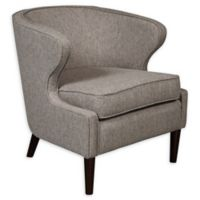 Pulaski Upholstered Shelter Back Accent Chair in Grey