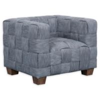 Pulaski Woven Upholstered Arm Chair in Indigo