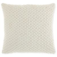 Mina Victory By Nourison Pleated Velvet Square Throw Pillow in Cream