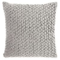 Mina Victory By Nourison Pleated Velvet Square Throw Pillow in Light Grey