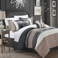 Chic Home Abilene 10-Piece King Comforter Set in Taupe