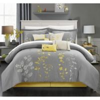 Chic Home Nayo 12-Piece Queen Comforter Set in Yellow