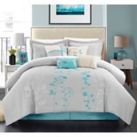 Chic Home Nayo 12-Piece Queen Comforter Set in Turquoise