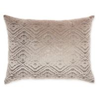 Mina Victory By Nourison Luminecence Metallic Diamonds Oblong Throw Pillow in Beige