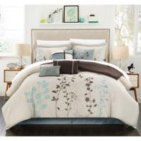 Chic Home Nayo 12-Piece Queen Comforter Set in Beige