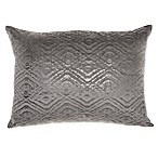 Mina Victory By Nourison Luminecence Metallic Diamonds Oblong Throw Pillow in Dark Grey