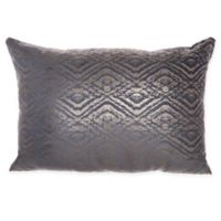 Mina Victory By Nourison Luminecence Metallic Diamonds Oblong Throw Pillow in Midnight