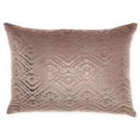 Mina Victory By Nourison Luminecence Metallic Diamonds Oblong Throw Pillow in Nude