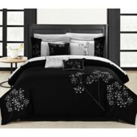Chic Home Irene 12-Piece King Comforter Set in Black/White