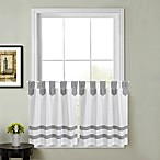 Acadia Striped 36-Inch Kitchen Window Curtain Tier Pair in Grey