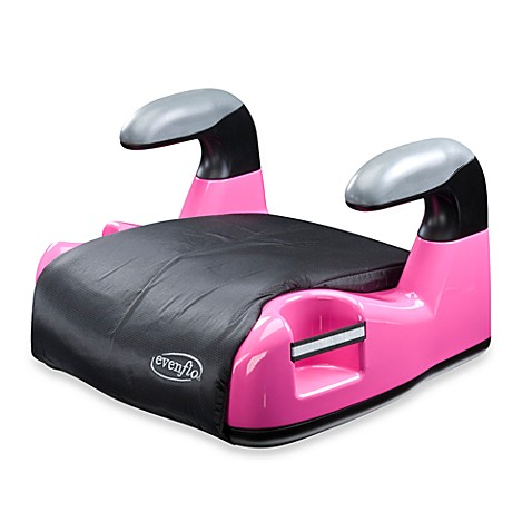 evenflo big kid amp booster car seat without back in amp pink bed bath beyond. Black Bedroom Furniture Sets. Home Design Ideas
