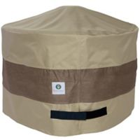 Duck Covers Elegant 50-Inch Round Patio Fire Pit Cover in Coffee