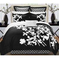 Chic Home Robin 11-Piece Queen Comforter Set in Black