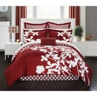 Chic Home Robin 11-Piece Queen Comforter Set in Red
