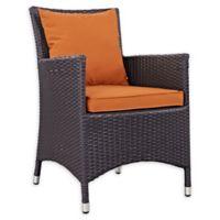 Modway Convene Outdoor Patio Armchair in Espresso/Orange