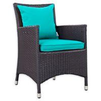 Modway Convene Outdoor Patio Armchair in Espresso/Turquoise