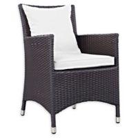 Modway Convene Outdoor Patio Armchair in Espresso/White