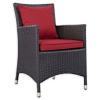 Modway Convene Outdoor Patio Armchair in Espresso/Red