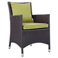 Modway Convene Outdoor Patio Armchair in Espresso/Peridot