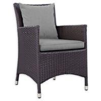 Modway Convene Outdoor Patio Armchair in Espresso/Grey