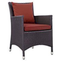 Modway Convene Outdoor Patio Armchair in Espresso/Currant