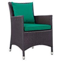 Modway Convene Outdoor Patio Armchair in Espresso/Green