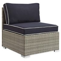 Modway Repose Outdoor Armless Chair in Light Grey/Navy