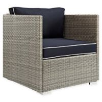 Modway Repose Outdoor Armchair in Light Grey/Navy