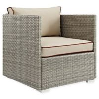 Modway Repose Outdoor Armchair in Light Grey/Beige