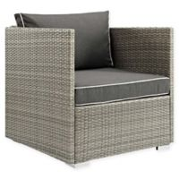 Modway Repose Outdoor Armchair in Light Grey/Charcoal