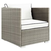 Modway Repose Outdoor Armchair in Light Grey/White
