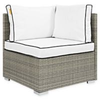 Modway Repose Patio Corner Chair in Light Grey/White