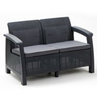 Keter Bahamas All-Weather Loveseat in Grey