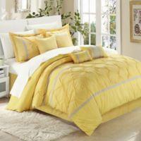Chic Home Kearney 12-Piece King Comforter Set in Grey