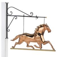 Good Directions Horse Hanging Wall Sculpture in Pure Copper