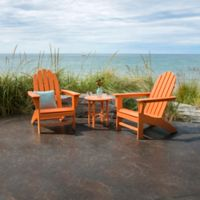 POLYWOOD® Vineyard 3-Piece Adirondack Set in Tangerine