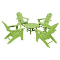 POLYWOOD® Vineyard 5-Piece Oversized Adirondack Patio Conversation Set in Lime