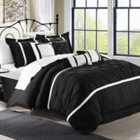 Chic Home Kearney 12-Piece King Comforter Set in Black/White