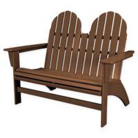 POLYWOOD® Aruba Vineyard Adirondack Bench in Teak