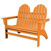 POLYWOOD® Aruba Vineyard Adirondack Bench in Tangerine