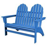 POLYWOOD® Aruba Vineyard Adirondack Bench in Blue