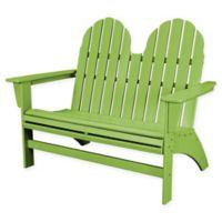 POLYWOOD® Aruba Vineyard Adirondack Bench in Lime