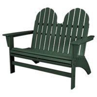 POLYWOOD® Aruba Vineyard Adirondack Bench in Green